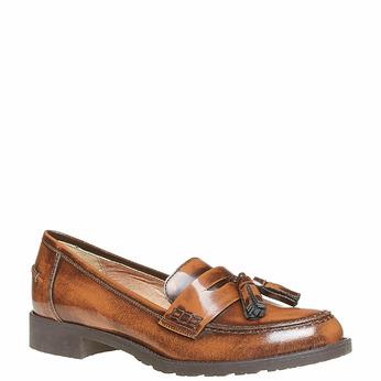 Loafers femme avec houppes bata, Brun, 514-3246 - 13