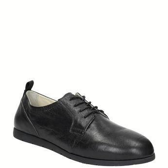 Chaussure lacée en cuir pour femme flexible, Noir, 524-6565 - 13