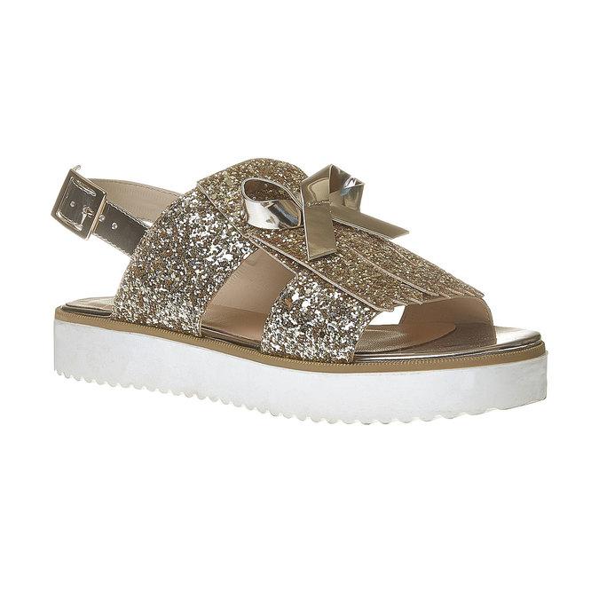 Sandale à paillettes et semelle épaisse bata, Jaune, 569-8390 - 13