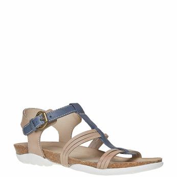Sandale en cuir femme weinbrenner, Violet, 564-9315 - 13
