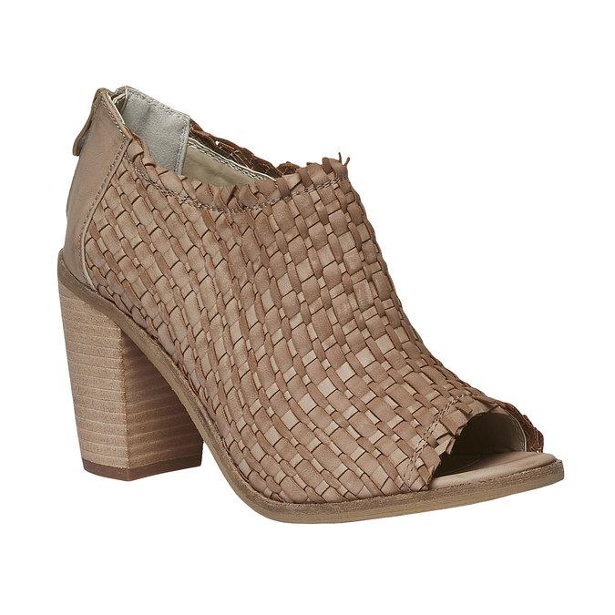 Sandale à bout ouvert bata, Brun, 721-3945 - 13