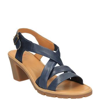 Sandale en cuir femme flexible, Violet, 764-9538 - 13