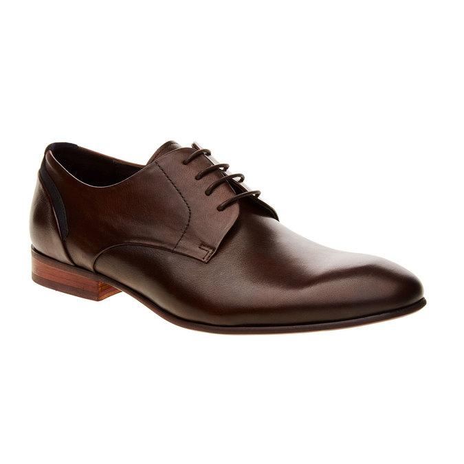 Chaussure lacée Derby en cuir bata, Brun, 824-4538 - 13