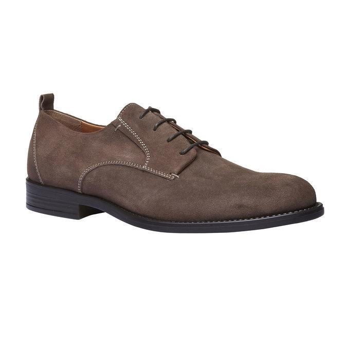 Chaussure lacée Derby en cuir bata, Brun, 823-4807 - 13
