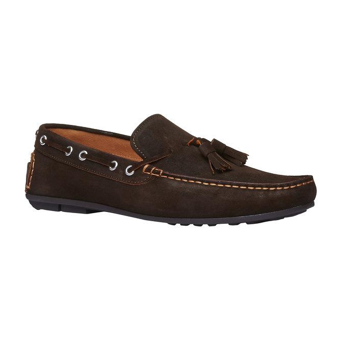 Mocassin à glands en cuir pour homme shoemaker, Brun, 853-4182 - 13