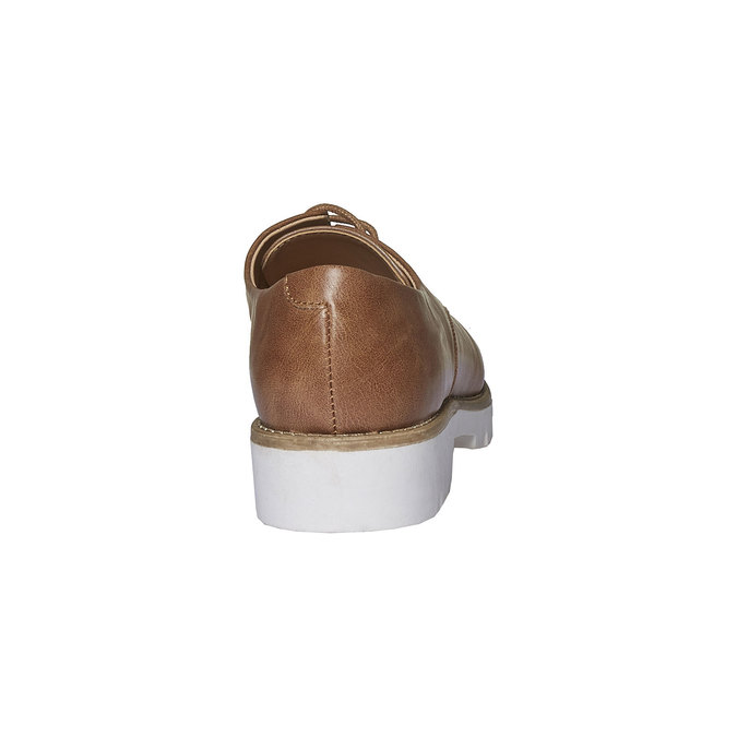 Chaussure basse à semelle épaisse bata, Brun, 521-3480 - 17
