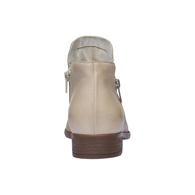 Bottine en cuir avec zips bata, Jaune, 594-8670 - 17