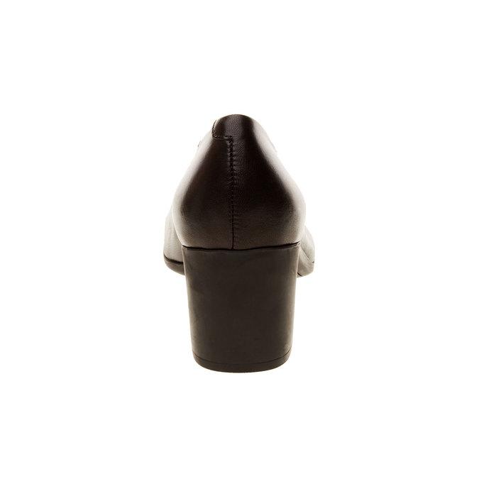 Escarpins en cuir flexible, Noir, 624-6706 - 17