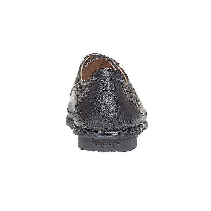 Chaussure lacée en cuir pour homme fluchos, Noir, 824-6866 - 17