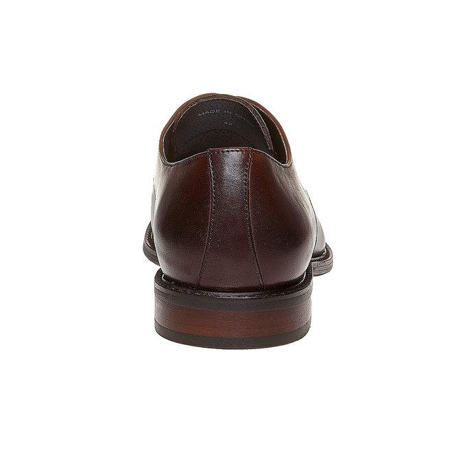 Chaussure lacée Derby en cuir bata, Brun, 824-4311 - 17