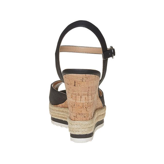 Sandale à plateforme bata, Noir, 761-6520 - 17
