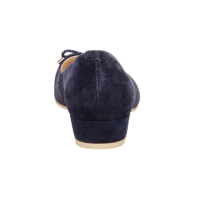 Escarpin en cuir avec nœud vagabond, Violet, 623-9101 - 17