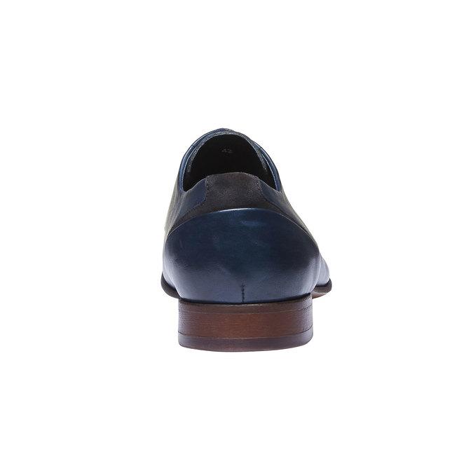 Chaussure lacée Derby en cuir bata, Violet, 824-9538 - 17