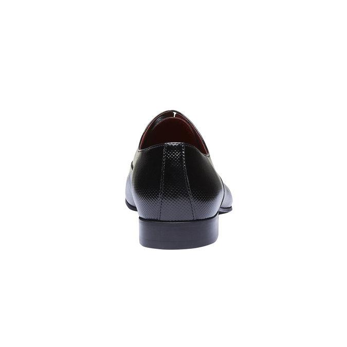 Chaussure lacée en cuir pour homme, Noir, 824-6830 - 17