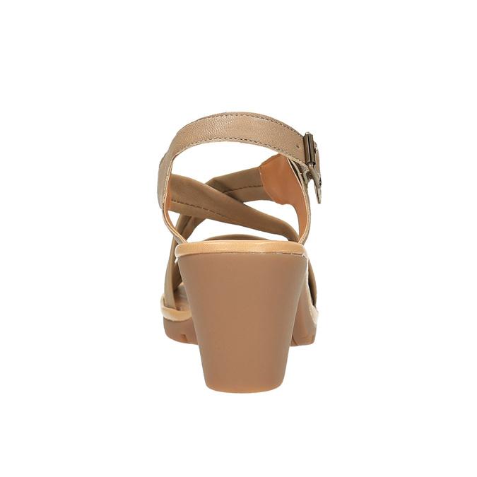 Sandale en cuir femme flexible, Brun, 764-8538 - 17