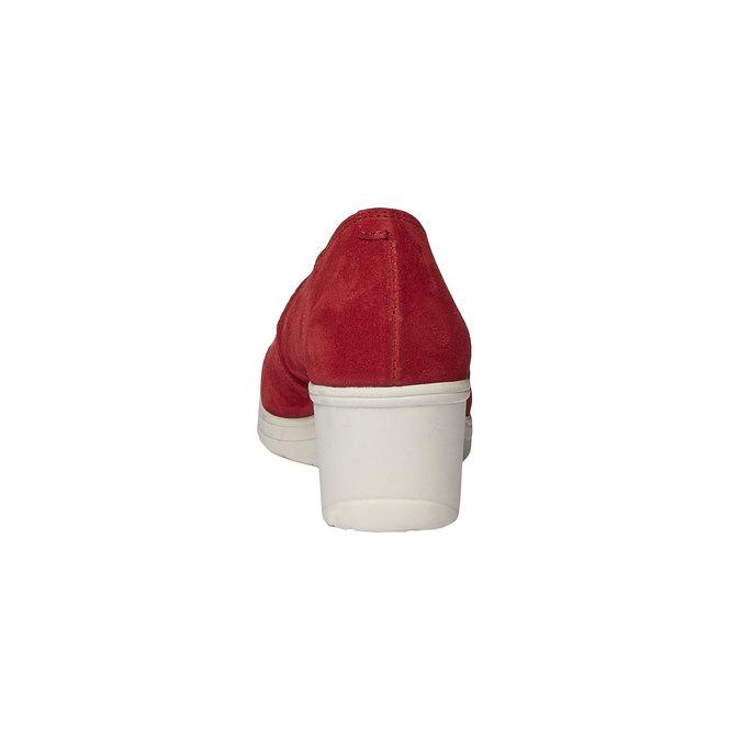 Escarpin en cuir à talon compensé bata-touch-me, Rouge, 613-5110 - 17