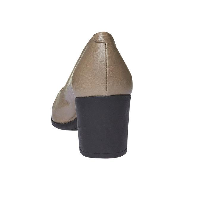 Escarpin en cuir pour femme flexible, Gris, 624-2706 - 17