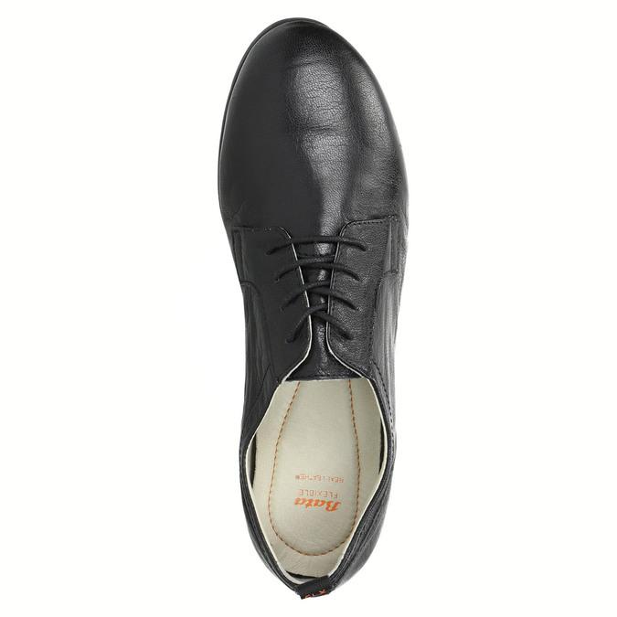 Chaussure lacée en cuir pour femme flexible, Noir, 524-6565 - 19