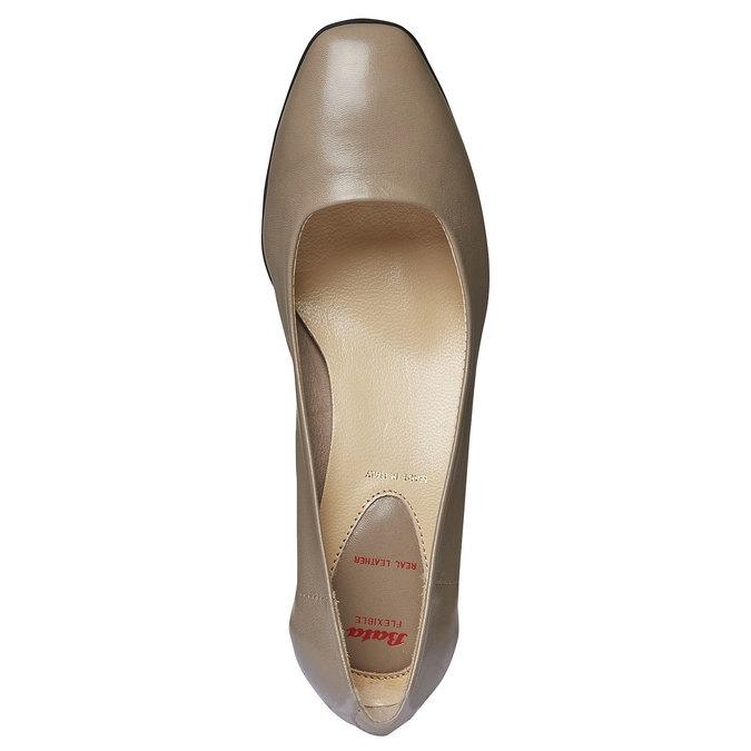 Escarpin en cuir pour femme flexible, Gris, 624-2706 - 19