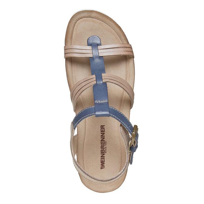 Sandale en cuir femme weinbrenner, Violet, 564-9315 - 19