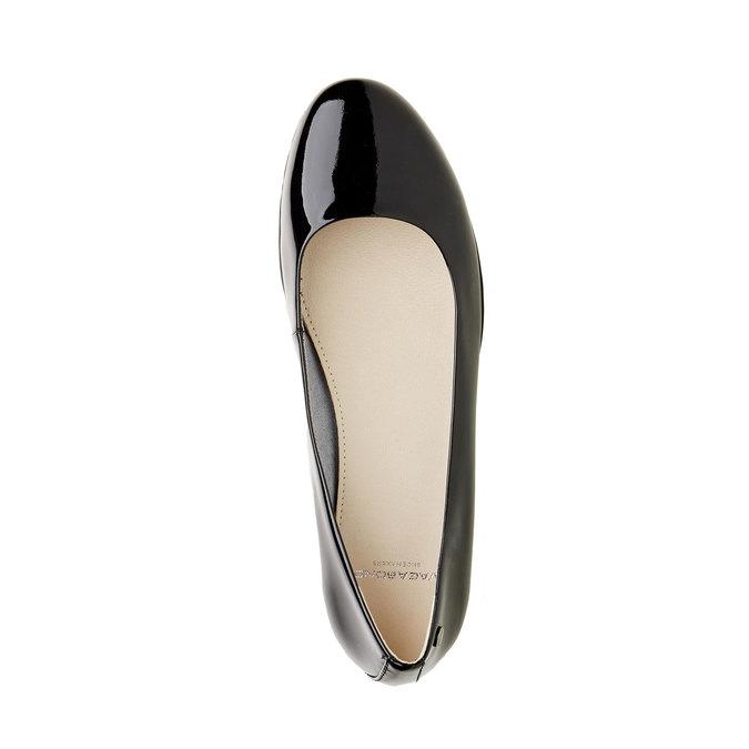 Ballerine en cuir à semelle épaisse vagabond, Noir, 518-6106 - 19
