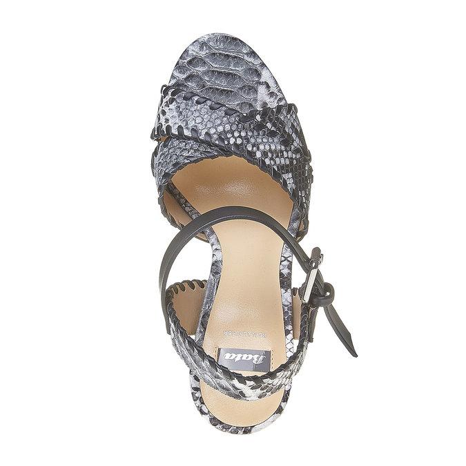 Sandale à plateforme bata, Noir, 761-6527 - 19