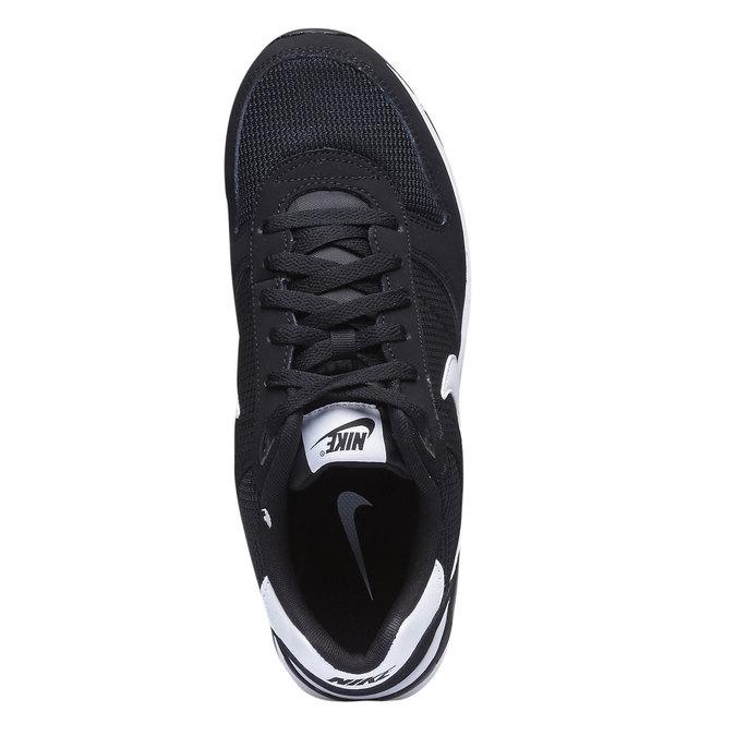Tennis en cuir Nike nike, Noir, 803-6361 - 19