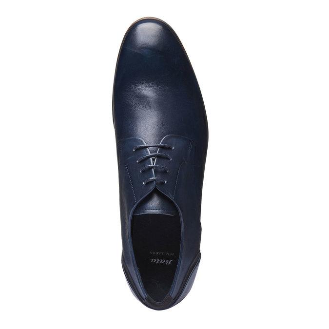 Chaussure lacée Derby en cuir bata, Violet, 824-9538 - 19