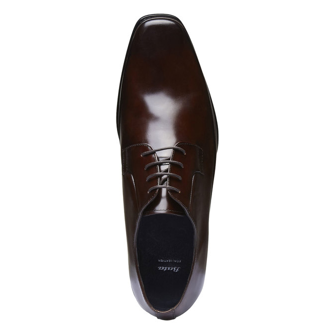 Chaussure lacée Derby en cuir bata, Brun, 824-4550 - 19