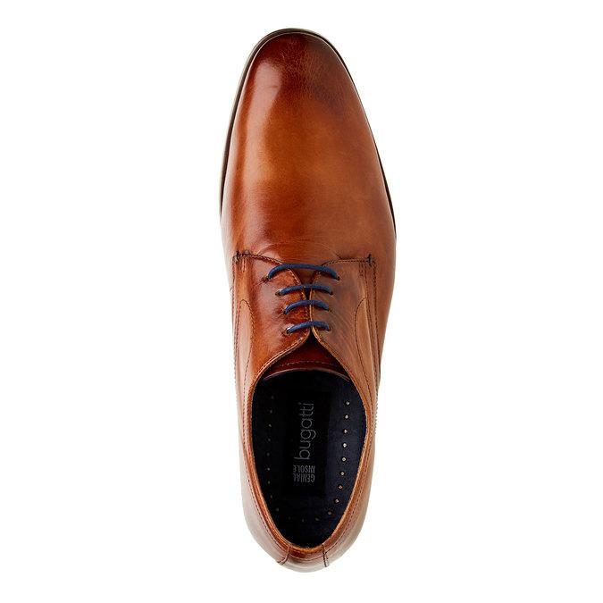 Chaussure lacée Derby en cuir bugatti, Brun, 824-4303 - 19