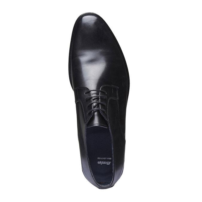 Chaussure lacée Derby en cuir bata, Noir, 824-6811 - 19