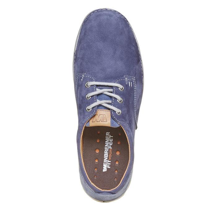Chaussure homme en cuir weinbrenner, Violet, 846-9657 - 19
