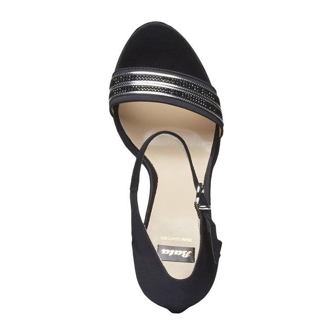 Sandale à talon Stiletto haut bata, Noir, 769-6555 - 19