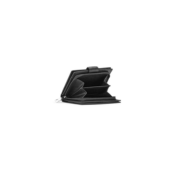 Porte-monnaie en cuir bata, Noir, 944-6117 - 15