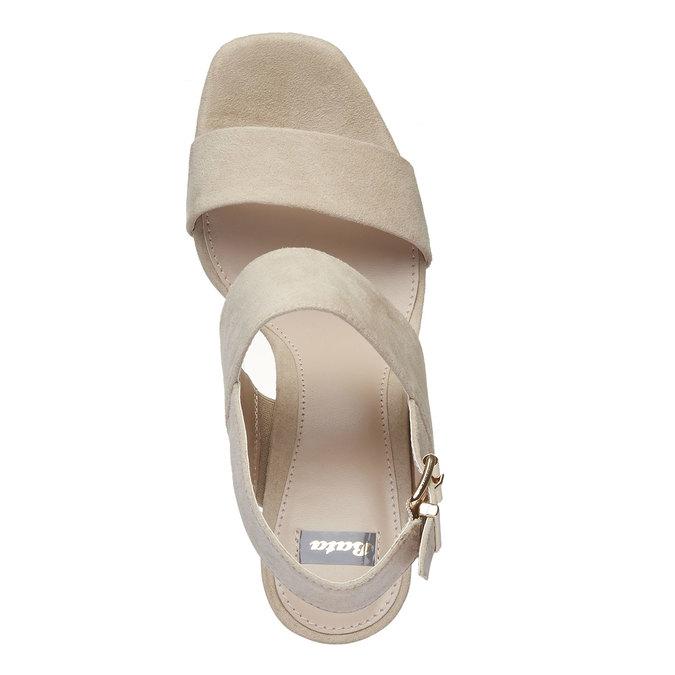 Sandale femme à talon massif bata, Jaune, 769-8541 - 19
