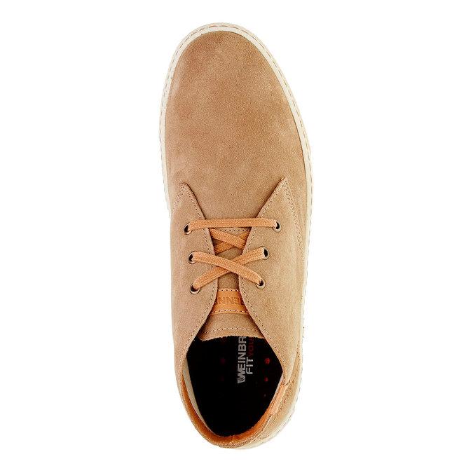 Chaussure homme en cuir weinbrenner, Brun, 843-8661 - 19