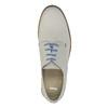 Chaussure lacée en cuir avec semelle colorée bata, Gris, 826-2839 - 19