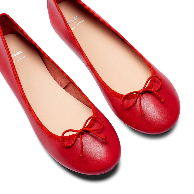 Ballerines en cuir bata, Rouge, 524-5144 - 26