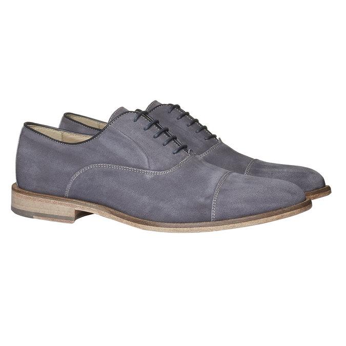Chaussure lacée Oxford en cuir shoemaker, Gris, 823-2103 - 26