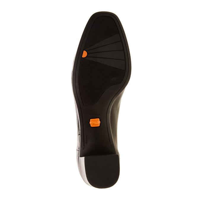 Escarpins en cuir flexible, Noir, 624-6706 - 26