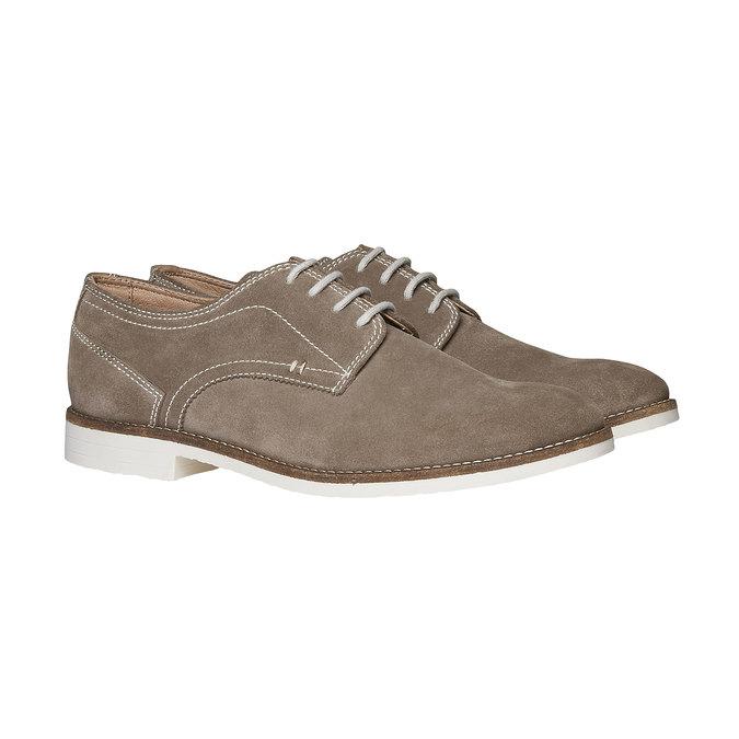 Chaussure lacée Derby en cuir bata, Jaune, 823-8558 - 26