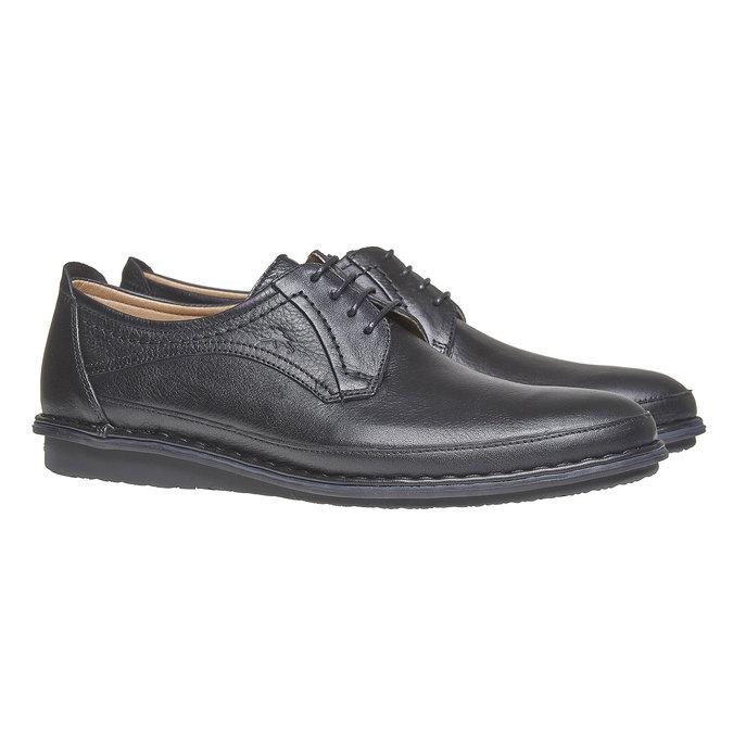 Chaussure lacée en cuir pour homme fluchos, Noir, 824-6866 - 26