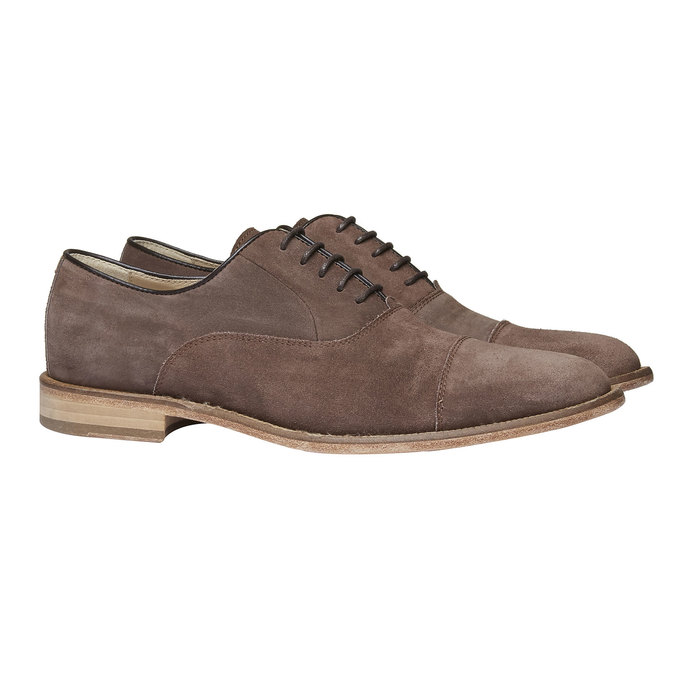 Oxford Shoe en cuir avec semelle en cuir shoemaker, Brun, 823-4103 - 26
