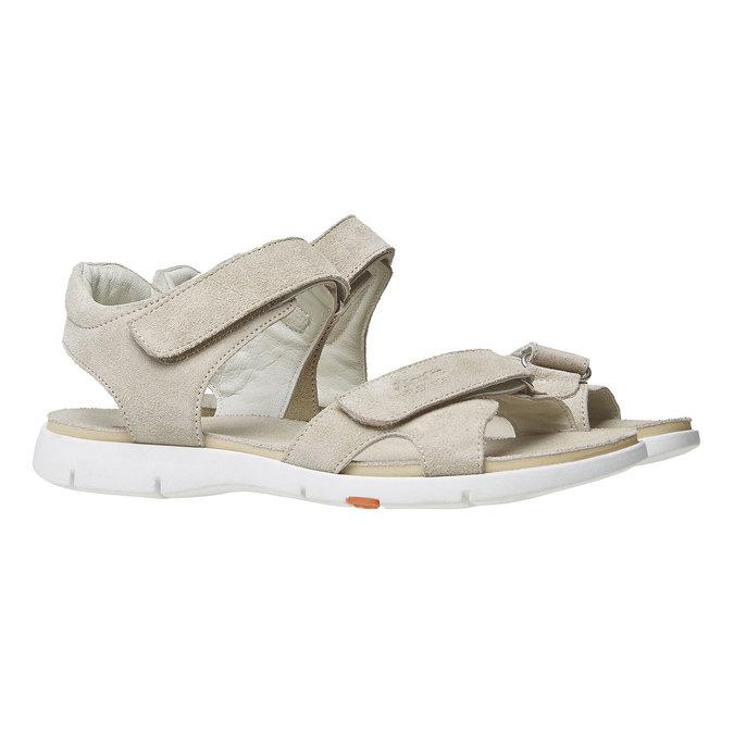 Sandale en cuir femme flexible, Jaune, 563-8397 - 26