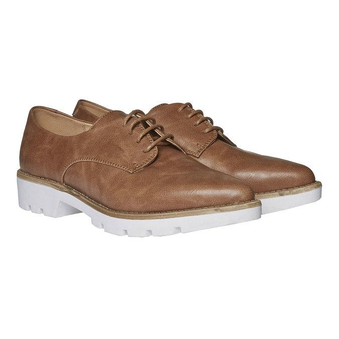 Chaussure basse à semelle épaisse bata, Brun, 521-3480 - 26