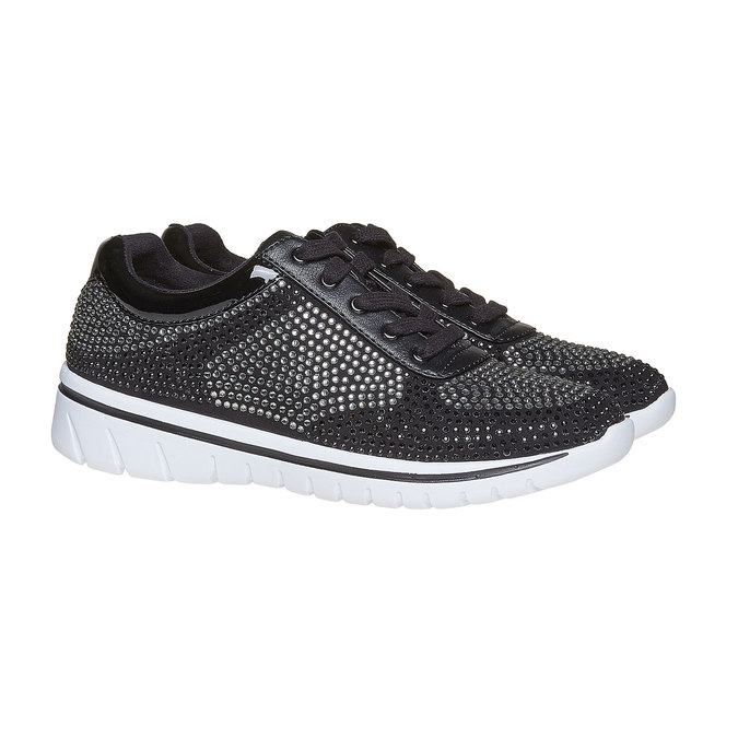 Baskets strass femme north-star, Noir, 549-6261 - 26
