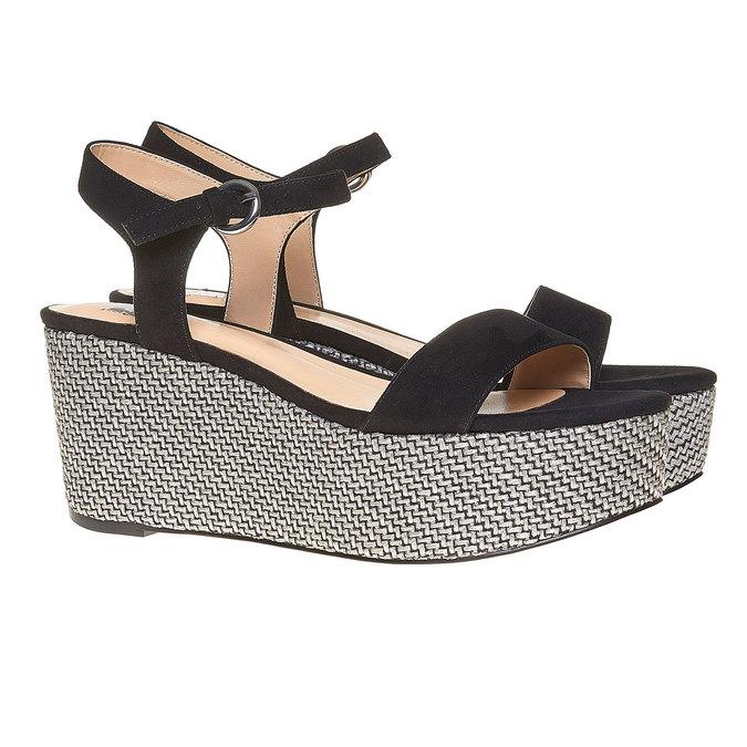 Sandale à plateforme bata, Noir, 769-6530 - 26