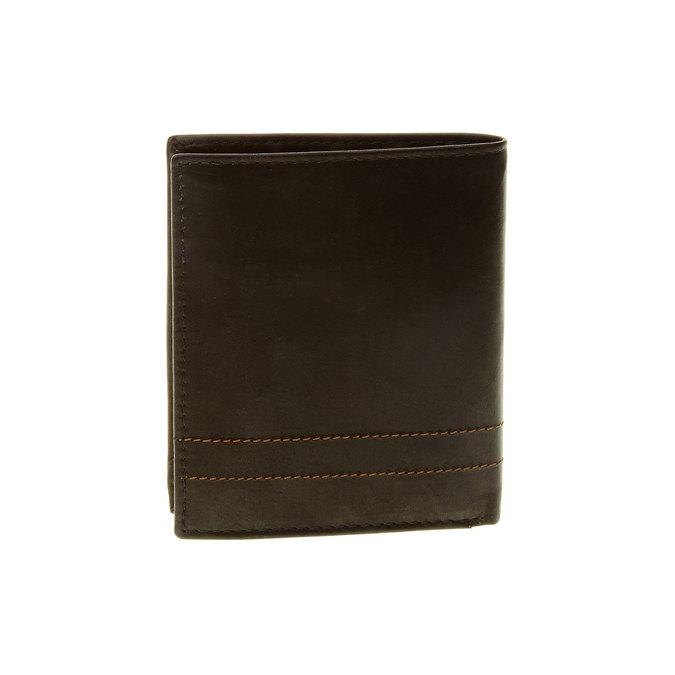 Porte-monnaie en cuir surpiqué bata, Noir, 944-6148 - 26