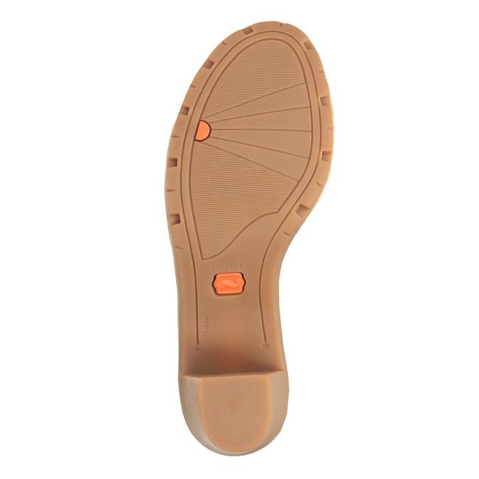 Sandale en cuir femme flexible, Brun, 764-8538 - 26