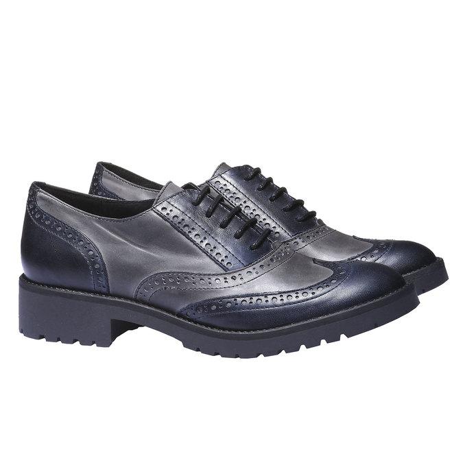 Chaussure lacée en cuir pour femme bata, Violet, 524-9135 - 26